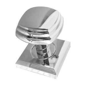 Frelan Hardware - Art Deco Square Moritce Door Knob On Rose  - Polished Chrome - JV74PC - Choice Handles