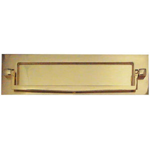 Frelan Hardware Letterplate With Postal Knocker 250mm x 76mm - Polished Brass - JV80PB - Choice Handles