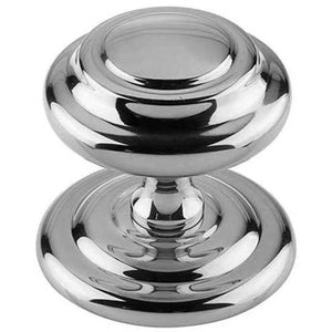Frelan Hardware Sloane Centre Door Knob (102mm Diameter) - Polished Chrome - JV57PC - Choice Handles