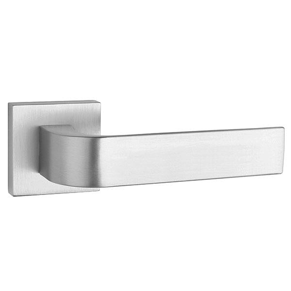 Tupai Rapido CurvaLine Turis Designer Lever on Square Rose - Satin Chrome