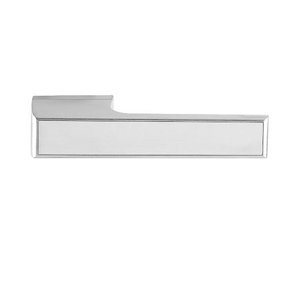 Tupai Rapido VersaLine Tobar Designer Lever on Long Rose - Satin Stainless Steel Decorative Plate - Bright Polished Chrome  -T3089LSSSPC