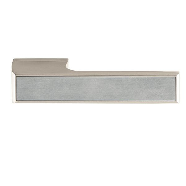 Tupai Rapido VersaLine Tobar Designer Lever on Long Rose - Satin Stainless Steel Decorative Plate - Pearl Nickel - T3089LSSSPL
