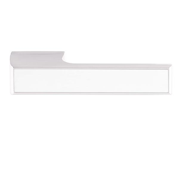 Tupai Rapido VersaLine Tobar Designer Lever on Long Rose - White Decorative Plate - Bright Polished Chrome - T3089LWHPC