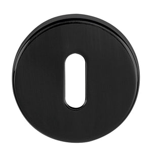 Tupai Rapido CurvaLine Key Escutcheon on Round Rose - Pearl Black (Pair) - TESCKRMB - Choice Handles
