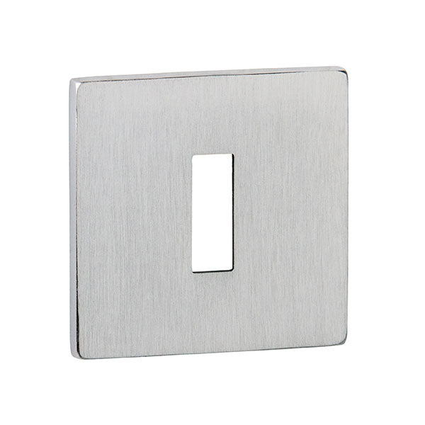 Tupai Rapido 5S Line Key Escutcheon on 5mm Slimline Square Rose - Satin Chrome - TESCKS5SSC