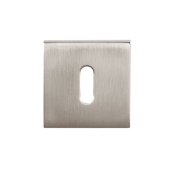Tupai Rapido Curva/QuadraLine Key Escutcheon on Square Rose - Pearl Nickel - TESCKSPL