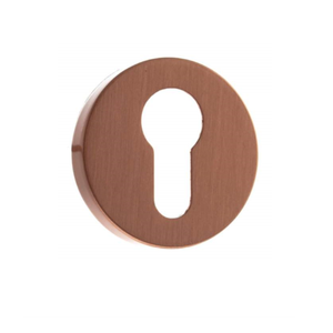 Atlantic Forme Euro Escutcheon on Minimal Round Rose - Urban Satin Copper - FMREUSC - Choice Handles