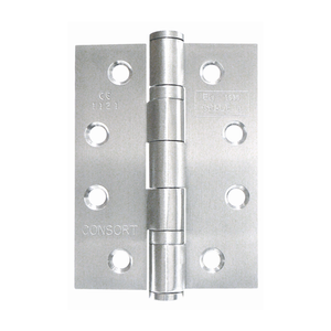Consort - Ball Bearing Butt Hinge 102x76x3mm Grade 13 Satin Stainless Steel - (Pack Of 3) - Choice Handles