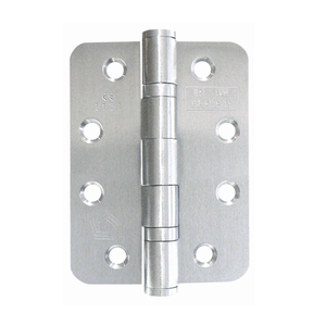 Consort - Radius Ball Bearing Butt Hinge 102x76x3mm Grade 13 Satin Stainless Steel - (Pair) - Choice Handles