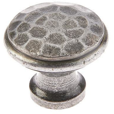 Jedo - 25mm Hammered Cabinet knob - Pewter Patina - VF85