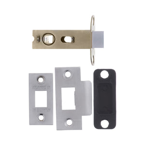 "Atlantic Bolt Through Tubular Latch 2.5"" 63mm - Satin Chrome - AL25SC - Choice Handles"