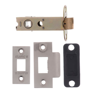 "Atlantic Bolt Through Tubular Latch 2.5"" 63mm - Satin Nickel - AL25SN - Choice Handles"