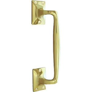 Frelan - Pull Handle 305mm - Pub Style - Polished Brass - V90DPB - Choice Handles