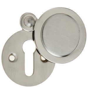 Frelan - Standard Profile Round Covered Keyhole Escutcheon - Satin Nickel - JV42SN - Choice Handles