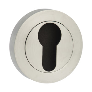 Atlantic STATUS Euro Escutcheon on Round Rose - Satin Chrome - S2ESCERSC - Choice Handles