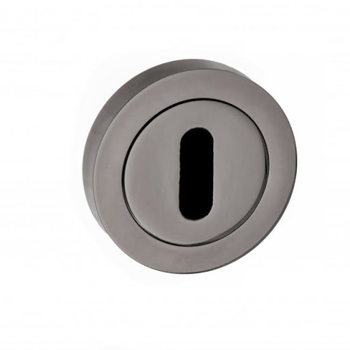 Atlantic STATUS Key Escutcheon on Round Rose - Black Nickel - S2ESCKRBN