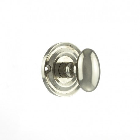 Atlantic Old English Solid Brass Oval WC Turn and Release - Polished Nickel - OEOWCPN