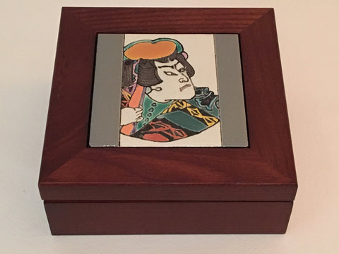 Japanese Motif Tile Box