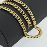 Gold Plated Sterling Silver Miami Cuban Link