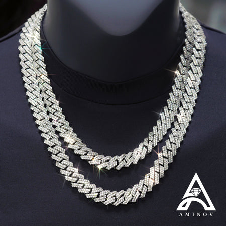 Miami Square Cuban Link C.Z. Chain