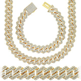 Gold Plated Miami Square Cuban Link C.Z. Chain
