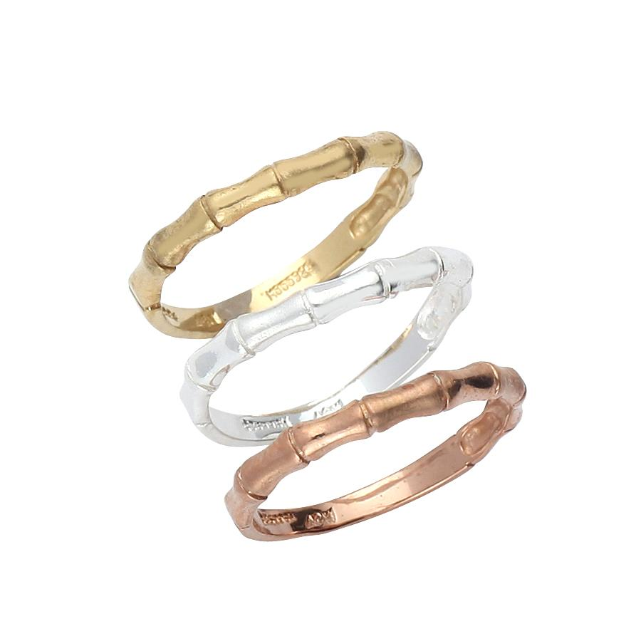 Sterling Silver .925, Gold Plated, and Rose Gold Plated Rings Set
