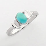 Sterling Silver .925 C.Z with stone Larimar Ring