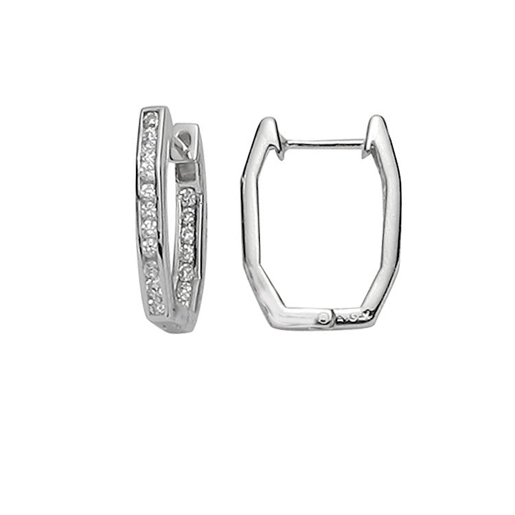 Sterling Silver .925 C.Z Huggies
