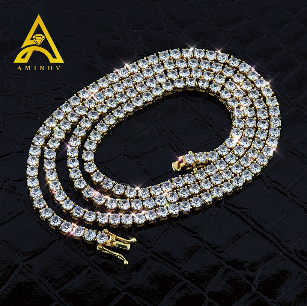 Gold Plated C.Z Tennis Chain