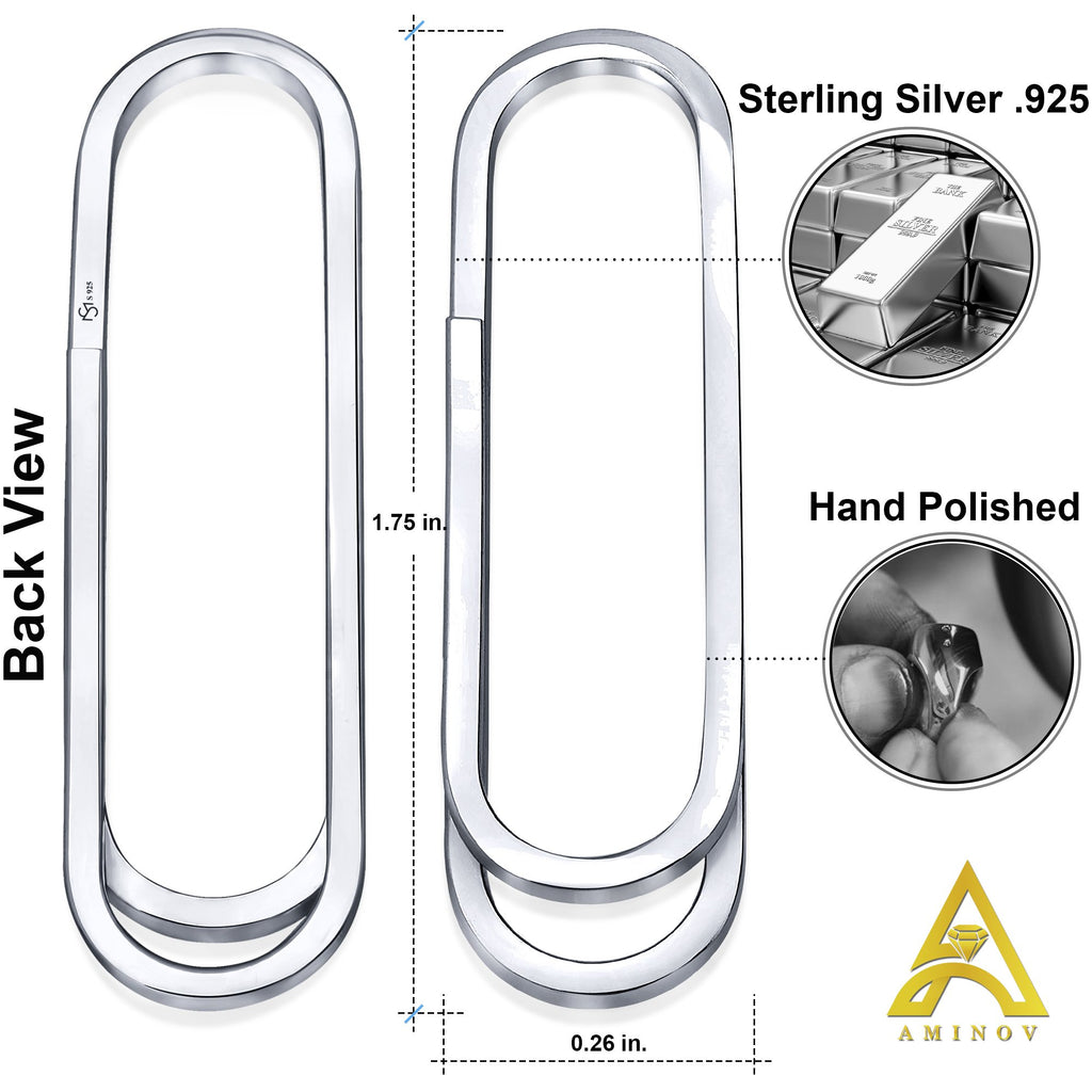 Sterling Silver .925 Paper Clip Style Money Clip