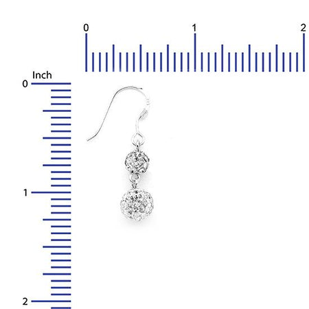 Sterling Silver .925 Swarovski Hollow Ball Drop Earrings