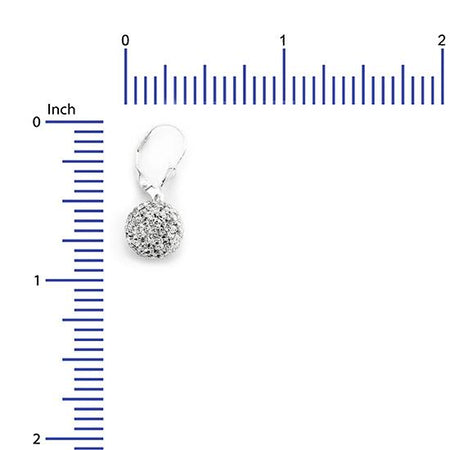 Sterling Silver .925 Swarovski Hollow Ball 10MM Leverback Earrings