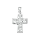 Sterling Silver .925 C.Z Cross Pendant