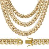 Miami Cuban Link C.Z Gold Plated Chain