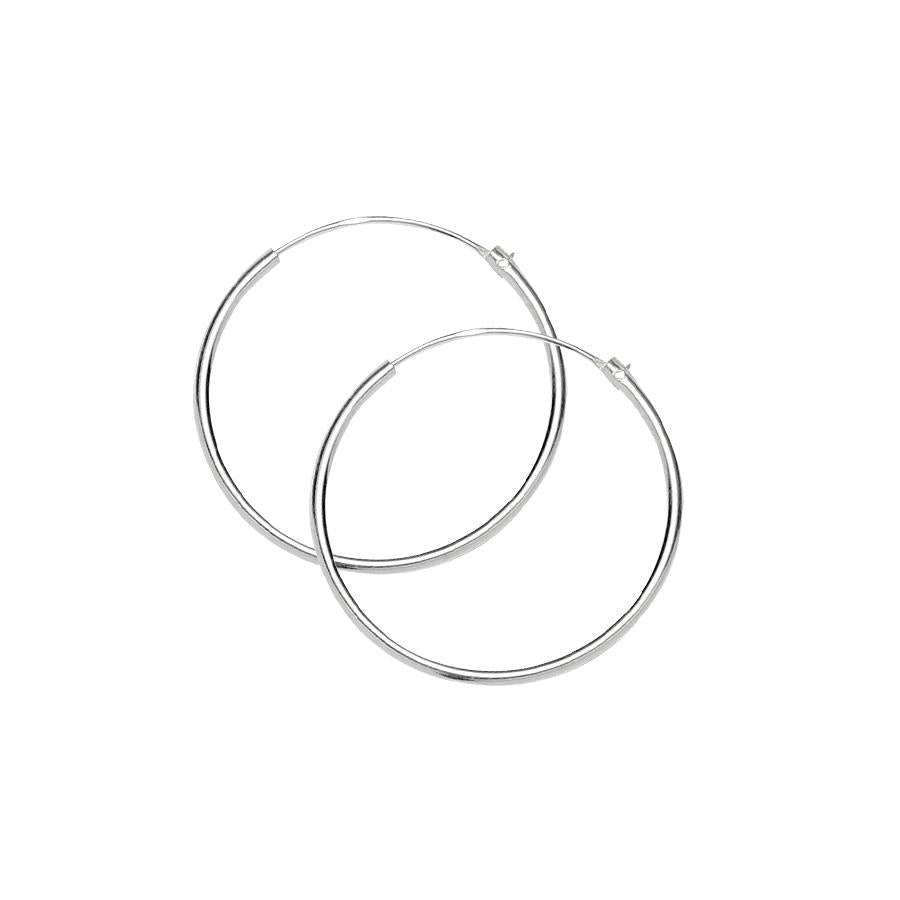 Sterling Silver .925 1MM Endless Hoops