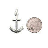 Sterling Silver .925 Anchor Hollow Charm
