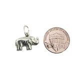 Sterling Silver .925 Elephant Hollow Charm