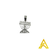 Sterling Silver .925 Menorah Hollow Charm