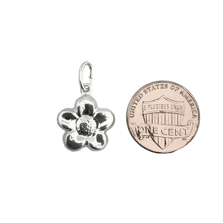 Sterling Silver .925 Flower Hollow Charm