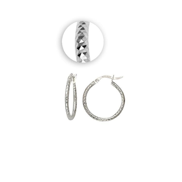 Sterling Silver .925 Fancy Hoops
