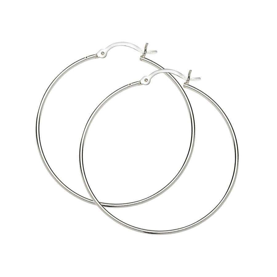 Sterling Silver .925 1MM Hoops