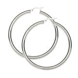 Sterling Silver .925 4MM Hoops