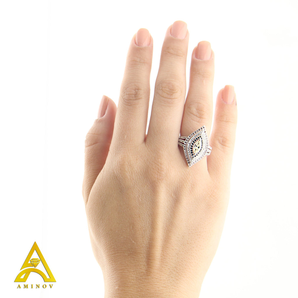 Sterling Silver .925 Marquise C.Z Ring