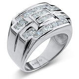 Sterling Silver .925 Designer C.Z Ring