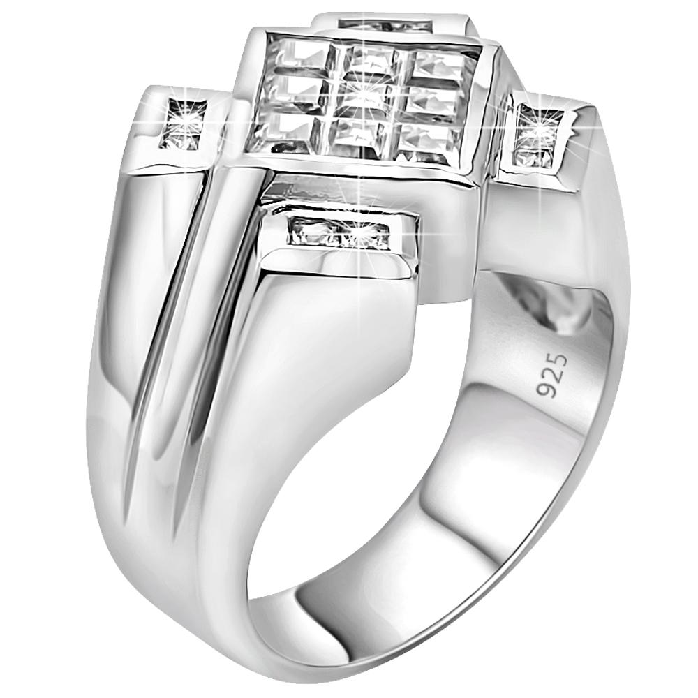 Sterling Silver .925 Princess Cut C.Z Ring