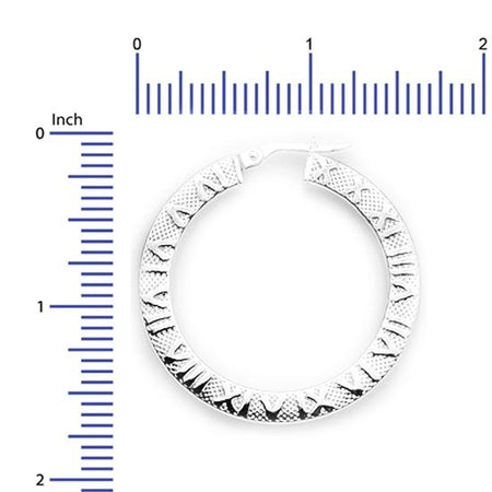 Sterling Silver .925 Roman Numeral Hoops