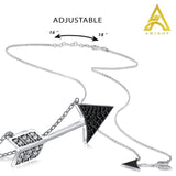 Sterling Silver .925 C.Z Arrow Pendant with Chain