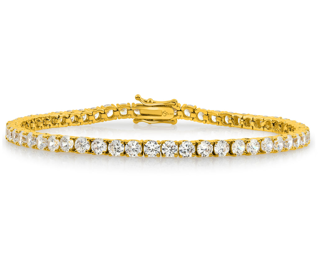 Gold Plated C.Z Tennis Bracelet