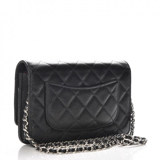 Chanel Caviar Quilted Wallet On Chain WOC Black LEQLASSIQUE