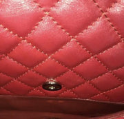 CHANEL Business Flap Diamond Quilted Dark Red - LECLASSIQUE